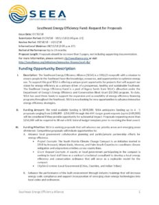 Rfp 2018 Southeast Energy Efficiency Fund With Proposal Template